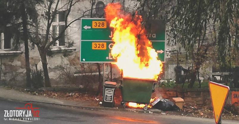Paliło się w kominie, paliło się w pojemniku na śmieci