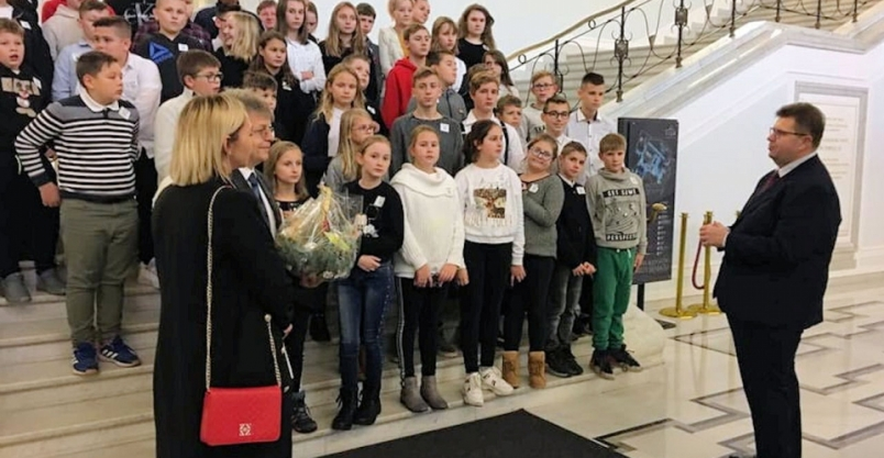 Uczniowie Jadwigi z wizytą w Sejmie RP